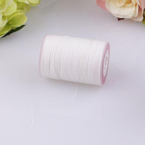 130 m 0.5 Mm en Cuir Ciré Thread Cord String for À faire soi-même Leather Craft Blanc
