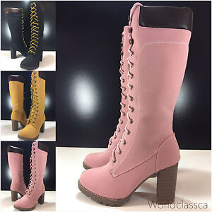 Zapatos-senora-invierno-rodilla-botas-plataforma-efecto-piel-botas-motorista-forradas