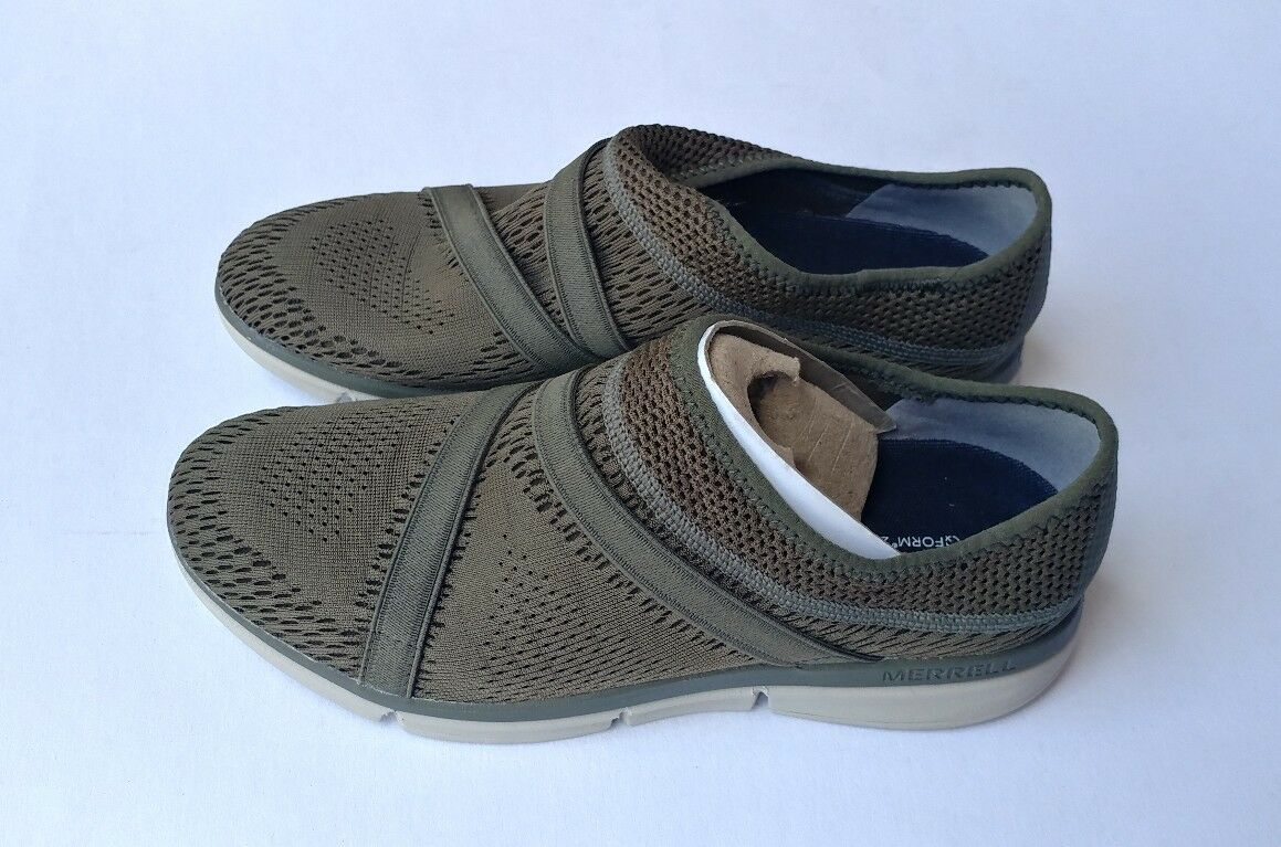 Femme Merrell ZOE SOJOUM E-MESH 02 Chaussures DUSTY OLIVE CLOTH STRAP SMEAKER Taille 7