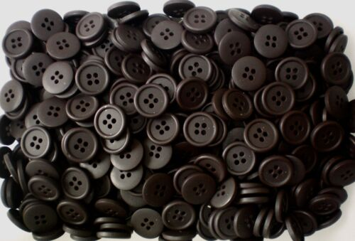 15 mm 20 mm marron chocolat 4 Trous Craft Couture Chemise Satin Boutons W581 W587