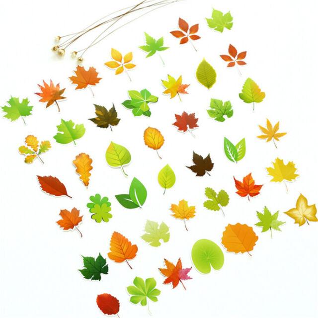 46pcs Diy Leaf Paper Stickers Flakes Romantic Love For Diary Decor Scrapbook `