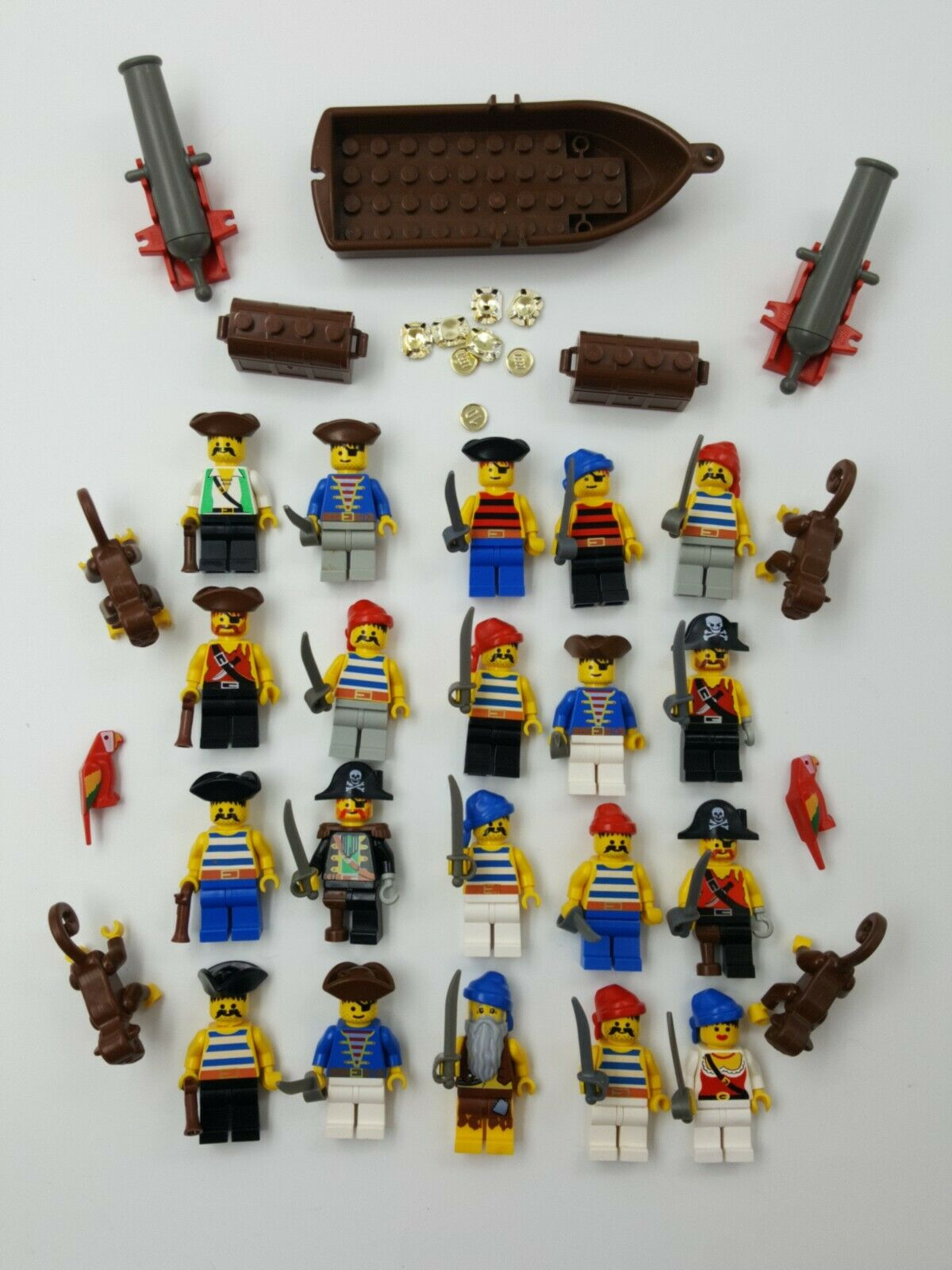 Lego Mini Figure Minifig Pirate Captain Monkey Parrot Cannon Accessories Weapons