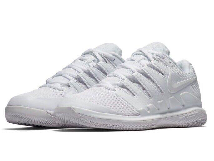 Nike Nike Nike De Mujer Talla 8 Air Zoom Vapor X HC Zapato De Tenis blancoo blancoo AA8027-101  entrega rápida
