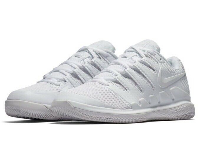 Nike Womens SZ 8 Air Zoom Vapor X HC Tennis Shoe White/White AA8027-101