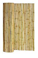 "New Natural Bamboo Fence ¾"" D x 6' H x 8' L Tiki Bar Hut Tropical Zen Fencing"