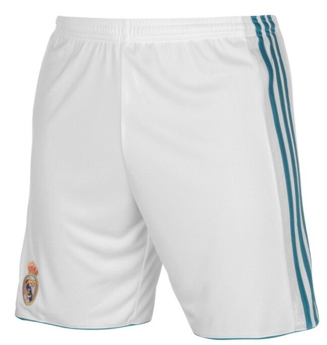 Adidas Home Home Pants White Real Madrid 2017 2018 White bluee Size S NEW