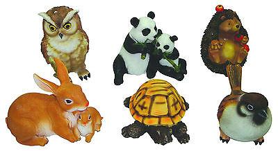 Animali Da Giardino In Plastica.Animaletti In Resina Set 6 Pz Animale Da Giardino Ebay