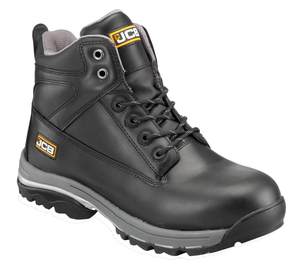 JCB workmax Leder Herren schwarzes Leder workmax Chukka Sicherheits Stiefel verschiedene Größe d90235