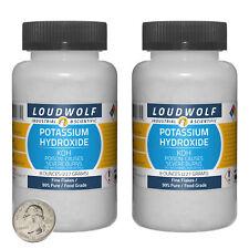 Potassium Hydroxide 1 Pound 2 Bottles 99 Pure Food Grade Fine Flakes
