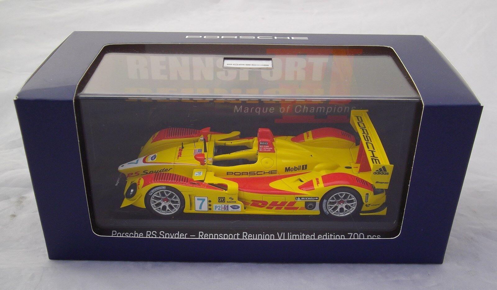 Porsche RS Spyder Reunion VI 2018 1 43 43 43 Limited 700 PCS Minichamps Spark NEW 8b6929