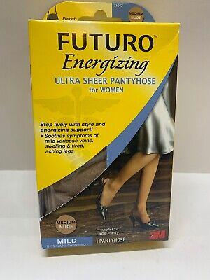 FUTURO Energizing Ultra Sheer Hose French Cut Lace Panty