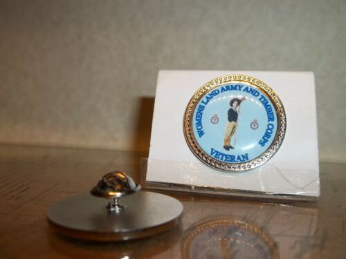 HM Armed Forces Women/'s Land Army and Timber corps Veteran lapel pin badge .
