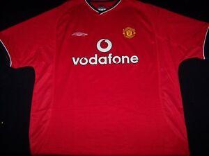 Manchester United Soccer Vodafone Umbro Jersey Red Shirt Mens Size Xl Ebay