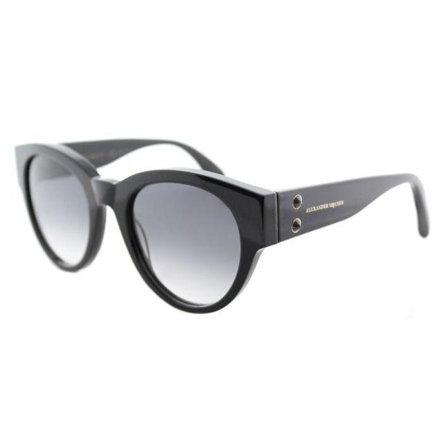 Alexander McQueen AM0022O Square Black Frame Grey Lens Sunglasses 54 17 135**NIB
