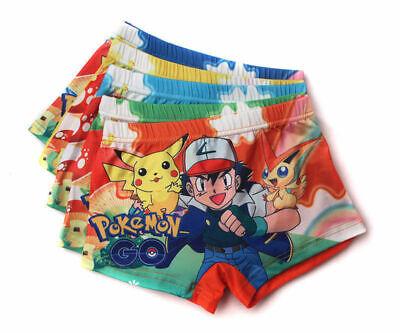 5pcs Pikachu Pokemon go Children cartoon boy underwear Boxer shorts gifts