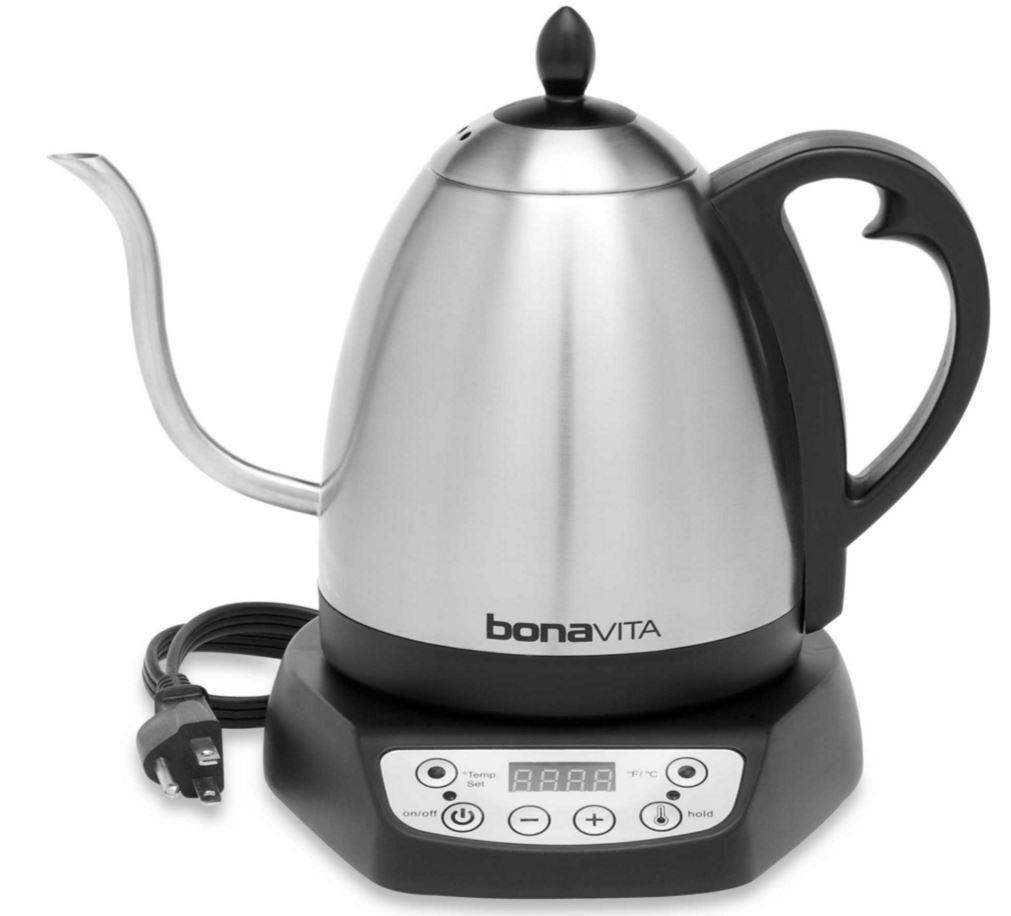 Bonavita 1 Litres électrique température variable Thé Café Bouilloire en acier inoxydable