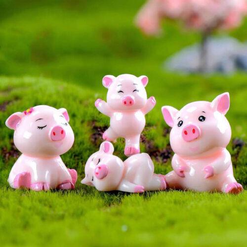 1pc cute Pigs Miniature Figurine Fairy Gardens Dollhouse Decors Micro Landsca BB