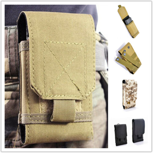 Waterproof Outdoors Army Military Phone Cover Bag Case Waist Belt Pouch Durable
