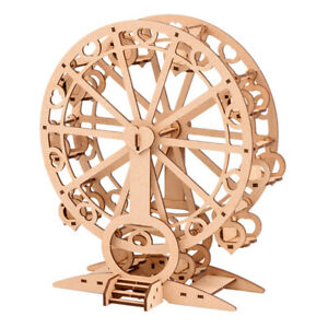 Kids-Wood-Trick-Ferris-Wheel-Model-Mechanical-DIY-3D-Puzzle-Self-Assembly-Kit