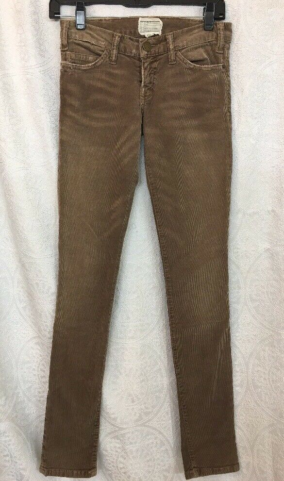 Current Elliott Corduroy Jeans The Skinny Stretchy Beige color Size 23
