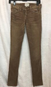 60% clearance get online shop for authentic Details about Current Elliott Corduroy Jeans The Skinny Stretchy Beige  color Size 23