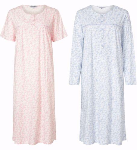 ND61 Slenderella Da Donna Cotone 100/% maglia camicia da notte qualità premium Camicia da notte
