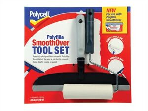 Polycell-PLCSOTS2-SmoothOver-Tool-Set-Roller-amp-Spreader