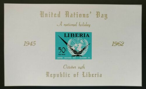 Liberia MNH LOT OF 50 Imperf SS, United Nations Day, October 24 - S5