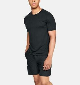 NWT Under Armour Men/'s UA Threadborne Siro SS T-shirt Top Black Shirt S M L XL