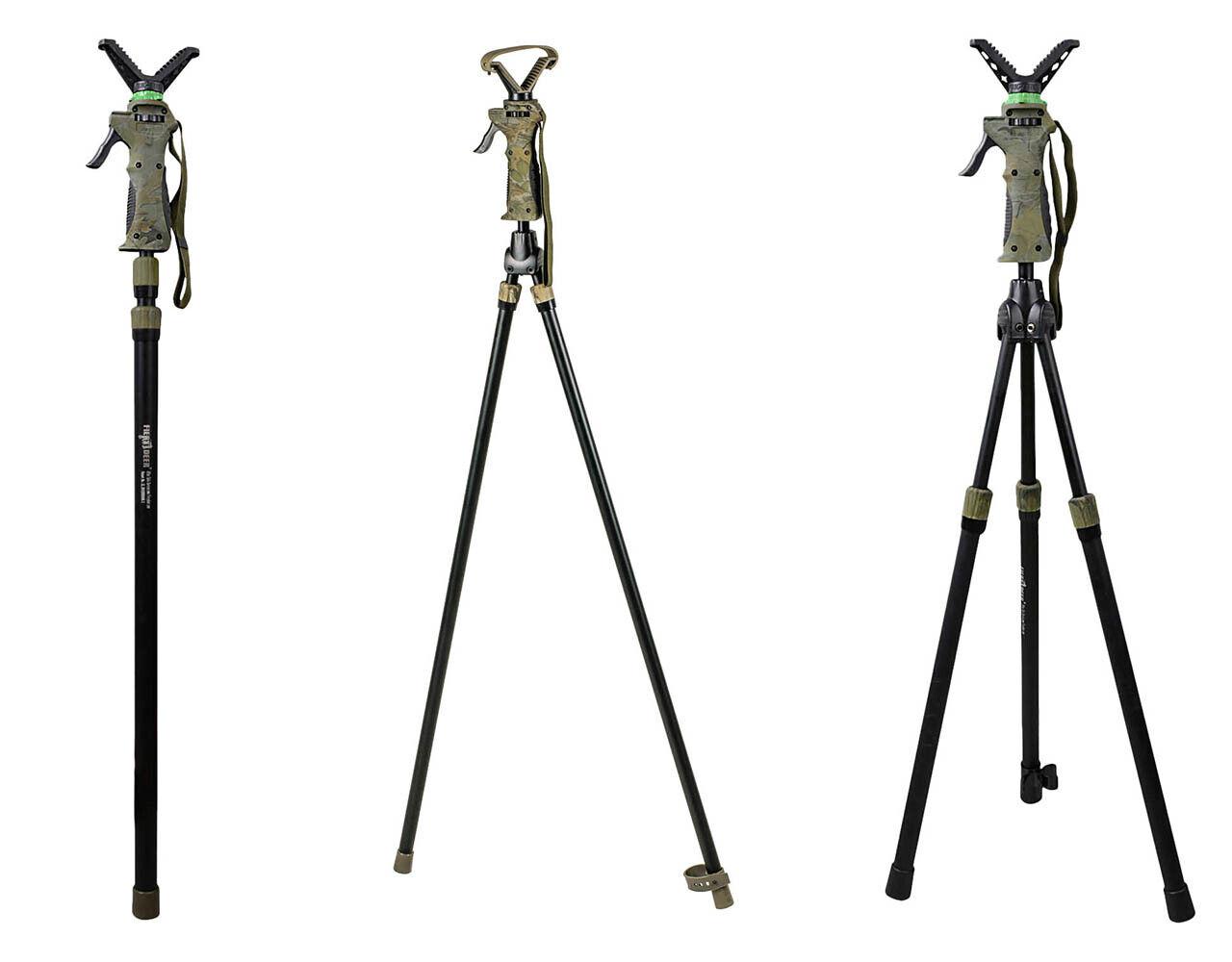 Fritzmann 2-teiliger Teleskop Zielstock Pirschstock Jagdstock mit Gewehrauflage