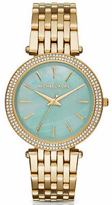 Michael-Kors-MK3498-Darci-MOP-Dial-Gold-Tone-Stainless-Steel-Women-039-s-Watch
