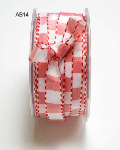 RED /& WHITE Polyester 10mm Wide 2 3 /& 5 Metres 3 Design Style Choice