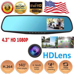 2019-High-Quality-4-3-039-039-1080P-Lens-Car-Auto-DVR-Mirror-Dash-Cam-Recorder-Kit-Hot