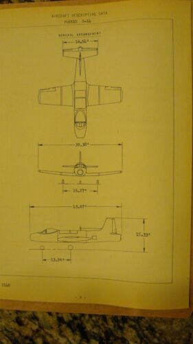 """RARE"" FOKKER S14 AIRCRAFT DESCRIPTIVE DATA"