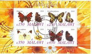 Malawi 2010 Farfalle Butterfly Papillons Foglietto Perf. 3 Belle Et Charmante