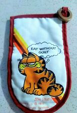 Vintage 1978 Garfield The Cat Jim Davis Eat Without Guilt Oven Mitt Glove For Sale Online