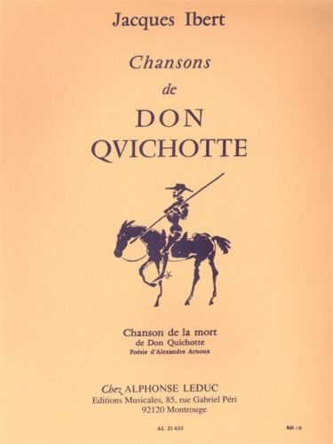 Jacques Ibert Chansons De Don Quichotte Chanson De La Mort Voice MUSIC BOOK