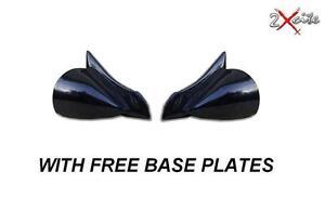 BLACK M3 MANUAL WING MIRRORS BMW 5 SERIES E39 /& LED INDICATORS INC BASE PLATES