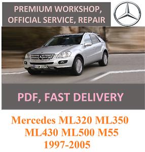 Advice service and repair manual Mercedes ML320 ML350 ML430 ML500 M55 1997-2005