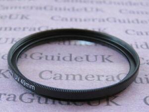 49mm-UV-Filter-Ultra-Violet-For-Nikon-Canon-Olympus-Sony-Camera-Lens-SLR-DSLR
