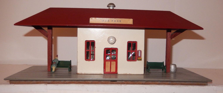 American Flyer Rare 1952 rosso 273 Oak Park Suburban Station Close to Nuovo