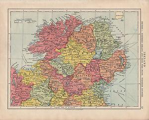1925 Map Ireland Section 1 Northern Irish Free State Down