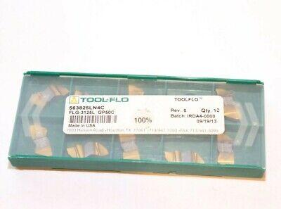 6334125LAC50C Qty 10 Tool Flo Insert FLGD-3125L  AC50C