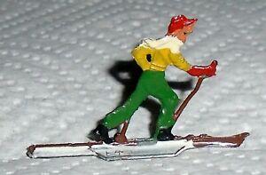 Vintage-Heinrichsen-German-Flat-Lead-034-Cross-Country-Skier-034-Near-Mint-F-S-LOT-A