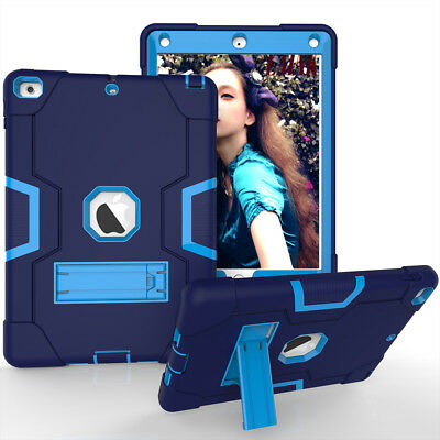 Shockproof Heavy Duty Rubber Stand Case Cover For iPad 9.7 2018 Air Pro Mini 3 2