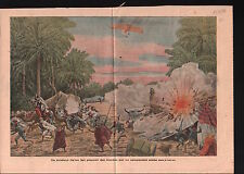 Aircraft Italia Army Bomb Desert Oasis Arab Ottoman Empire War 1911 ILLUSTRATION