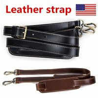 Leather Adjustable Cross Body Replacement Purse Shoulder Strap Handbag Wallet
