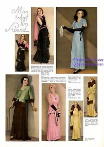 Abendkleid 30er Jahre Xl Seite 1931 7 Fotoabb. Mode Kleid Crepe Georgette +