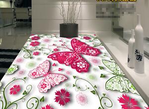 3D Butterfly Flower 8 Floor WallPaper Murals Wall Print 5D AJ WALLPAPER UK Lemon