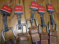 Relic Cotton Blnd 4-color Fabric Belts With Leather Tips & Buckle Sr $30